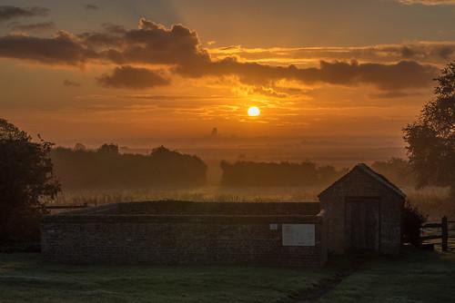 ancient autumn england daybreak dawn old cambridgeshire thefens uk ely autumnal europe eastanglia european sunrise