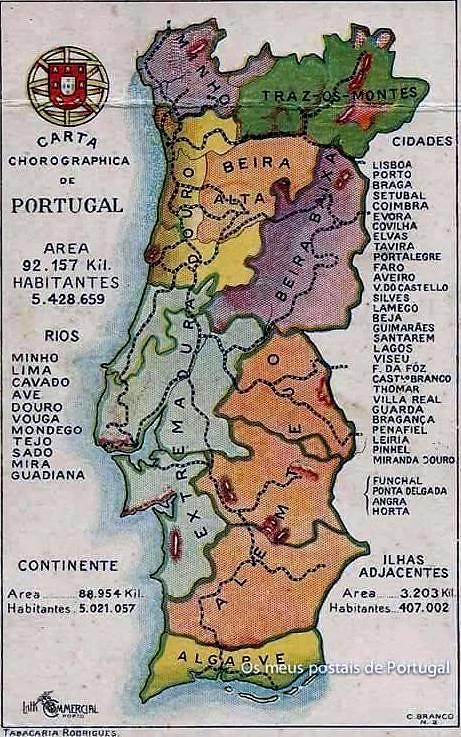 Mapa De Portugal Continental Utilizado Nas Escolas Primari Flickr