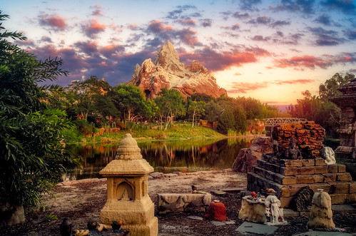 sunset asia disney disneyworld waltdisneyworld animalkingdom expeditioneverest nikond7000
