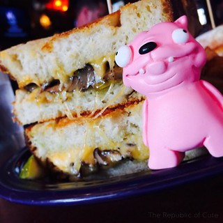 Tonight Pink Pet shall eat his height in cheese @meltbargrilled !!! #meltbarandgrilled #melt #lakewood #cleveland #cle #thisiscle #therepublicofcute #pinkpet #resintoy #BestOfCle #ArtToys #designertoy #monsterkolor #smoothon | by Karly West