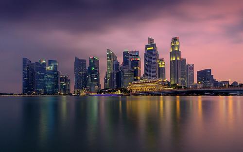 sunset singapore cityscape sg singapur longtimeexposure