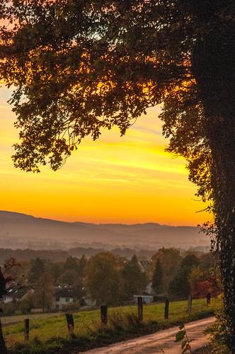 november sunset germany deutschland freehand untergang rinteln freihand sonnen lowersaxonyniedersachsen weservalley