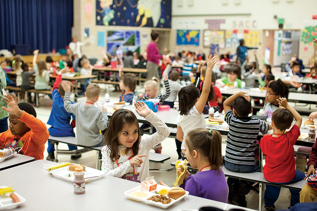 Image result for kids in school cafeteria