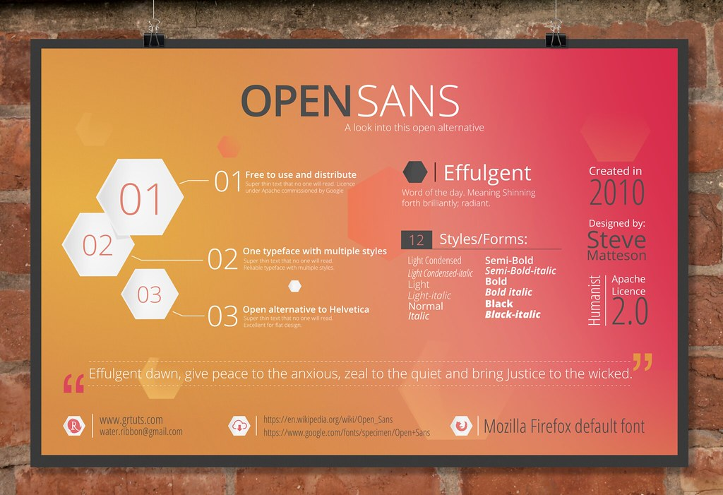 Infographic: Open Sans   This is an info graphic on an open …   Flickr