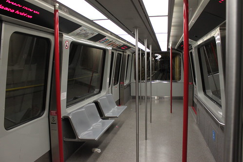 Interior of Sea-Tac Airport people mover vehicle