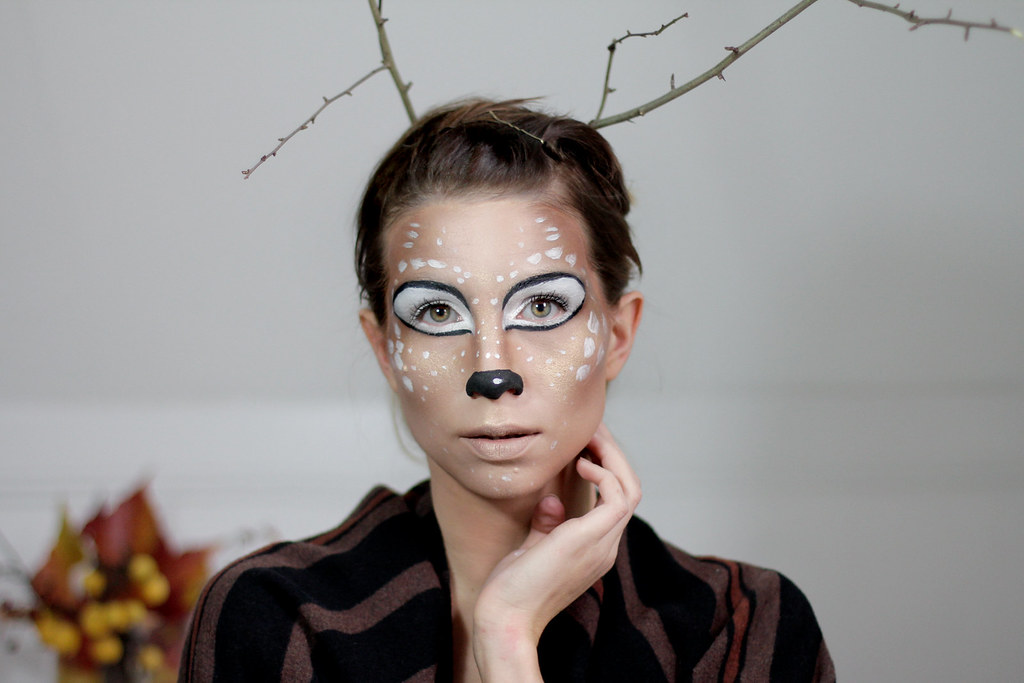 Schminken Halloween.Halloween Bambi Deer Make Up Styling Idea Tutorial How To