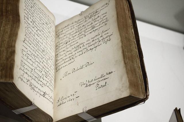 Blaise Pascal, Lettre au Père Étienne Noël, 29 octobre 1647, copie manuscrite, avant 1662 - Exposition Blaise Pascal à la Bibliothèque nationale de France