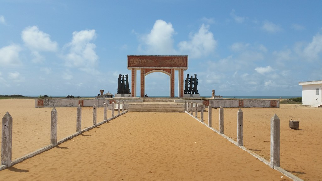 Oidah, la Route de l'esclave, door of no return, Benin