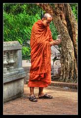 Phnom Penh K - Wat Phnom monk