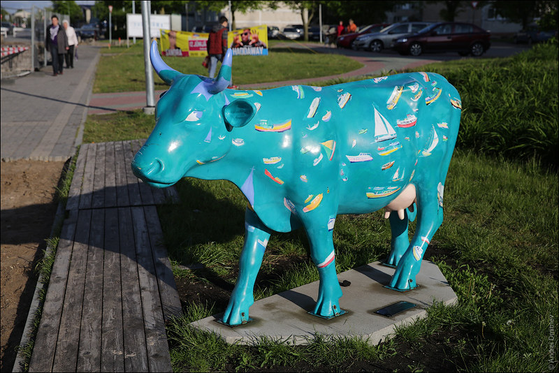 Бирюзовая корова, Вентспилс, Латвия