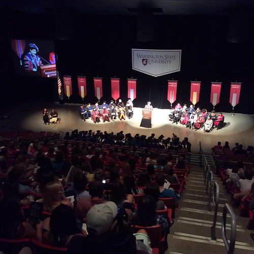 Convocation happening right now at Beasley Coliseum #WSUWOW #GoCougs #WSU