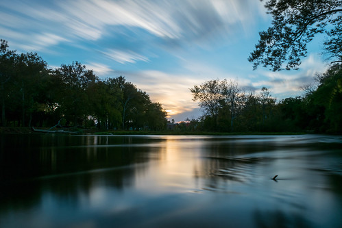 longexposure autumn trees sunset sky reflection tree fall clouds reflections river geotagged evening nikon unitedstates indiana elkhart islandpark stjosephriver nikond5300
