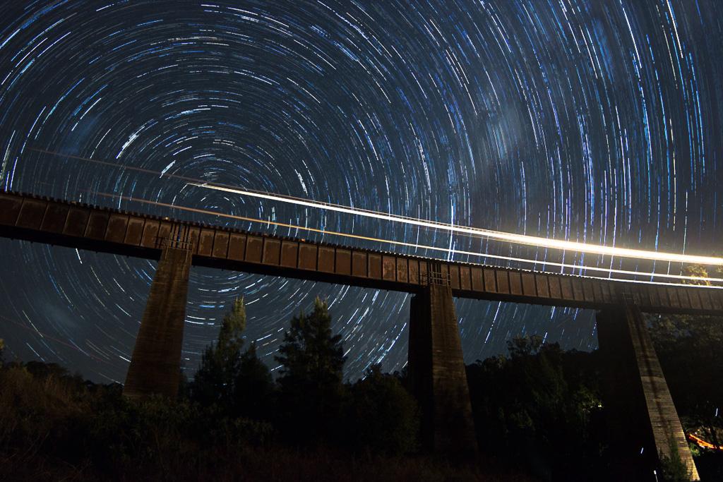 Night lights around the Border Ranges by Alan Shaw