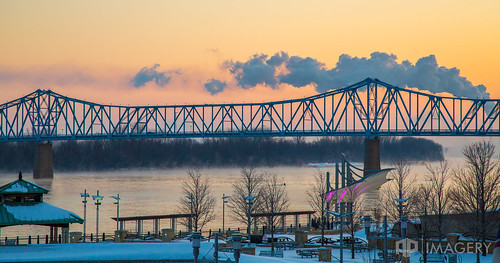 glovercary ohioriver bridge downtown riverfront winter ky smotherspark sunrise kentucky bluebridge snow