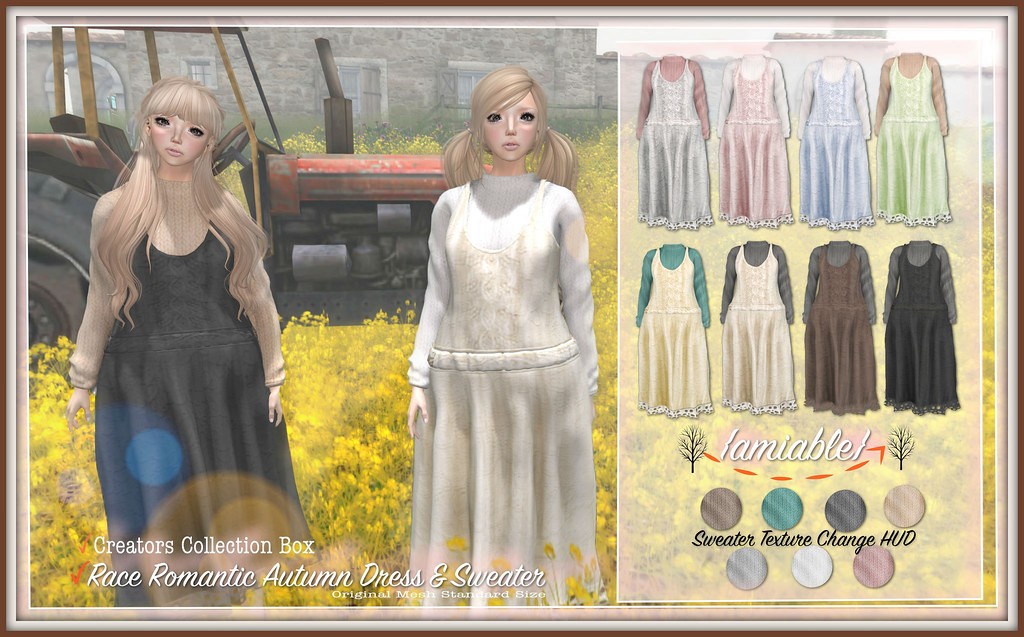 amiableLace Romantic Autumn Dress with Sweater(50%OFF) @the CCB.
