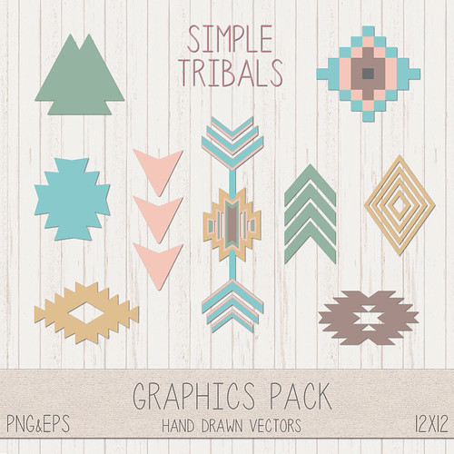 LeeLee Graphics - Simple Tribal Clip Art