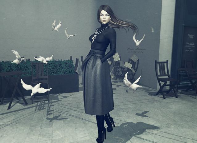 Avec les pigeons du boulevard