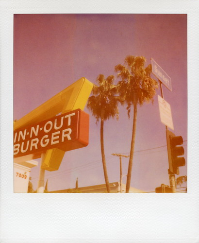 california ca camera sunset red toby food white tree film animal sign yellow palms logo french polaroid photography restaurant la los boulevard angeles burger fast style palm fries 600 hollywood hamburger arrow hancock expired slr680 doubledouble blvd innout 0409 shakes thatswhatahamburgersallabout