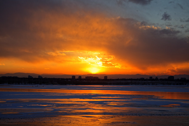 Sunset Over Ice