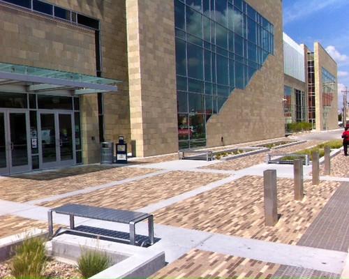 YMCA, Wichita, KS 2.25x9x2.25 Boardwalk Blend 50 Ivory, 52 Majestic, 53 Cimmerian, 54 Chocolate | by Whitacre Greer