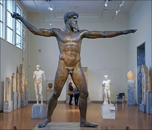 Zeus lançant la foudre (Musée national d'archéologie, Athènes)