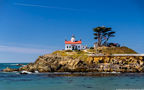 ocean california travel vacation usa lighthouse architecture landscape island view pacific sightseeing crescent canon60d batterypointlight