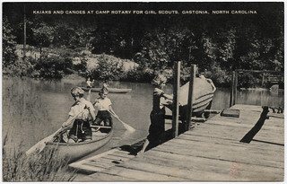 Kaiaks and Canoes at Camp Rotary for Girl Scouts, Gastonia, North Carolina | by unclibraries_commons