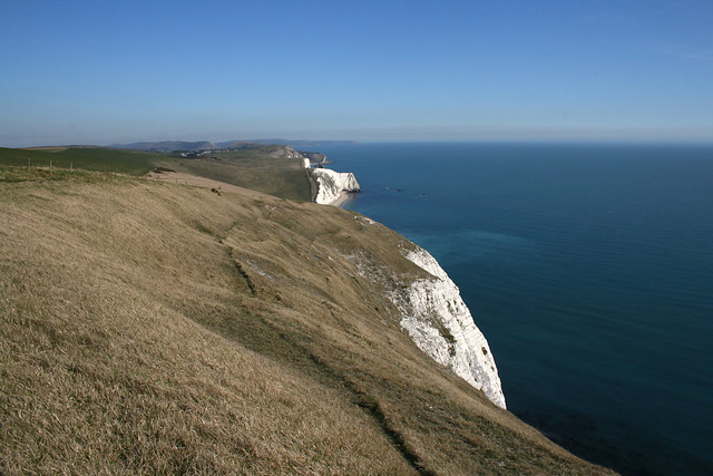 The clfifs at White Nothe looking to Lulowrth Cove