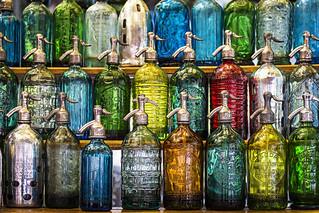 Soda Bottles in the San Telmo Market in Buenos Aires