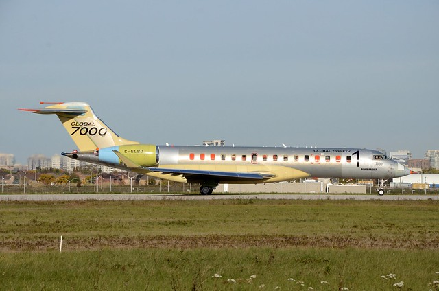 C-GLBO Bombardier BD-700-2A12 Global 7000 at CYZD