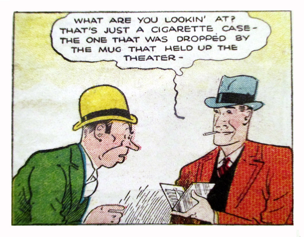 Opinion, comic strip detective consider