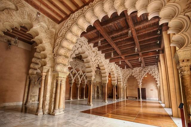 Palacio de la Aljaferia, Zaragoza, Spain.