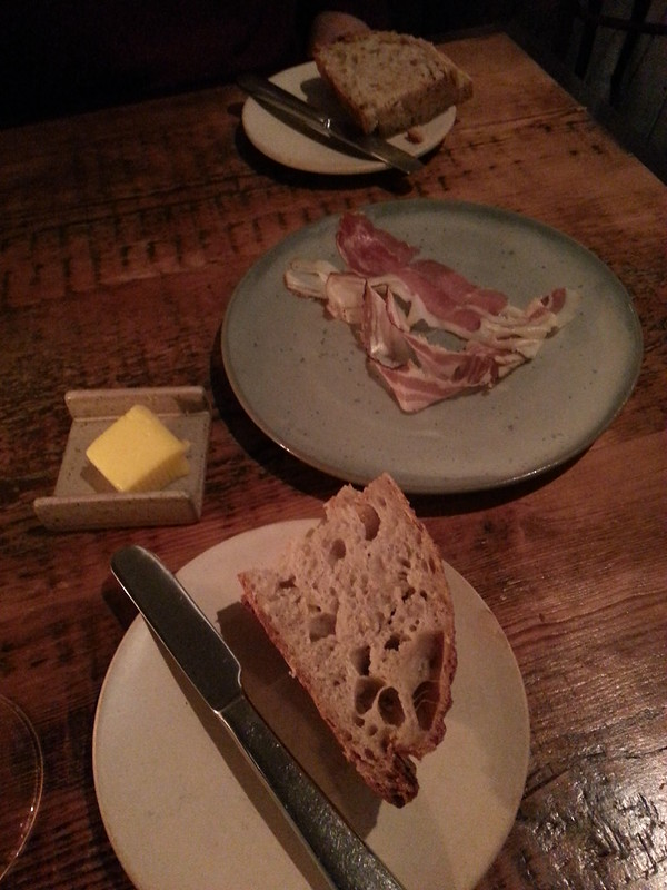 The Clove Club - fresh bread and cured meat