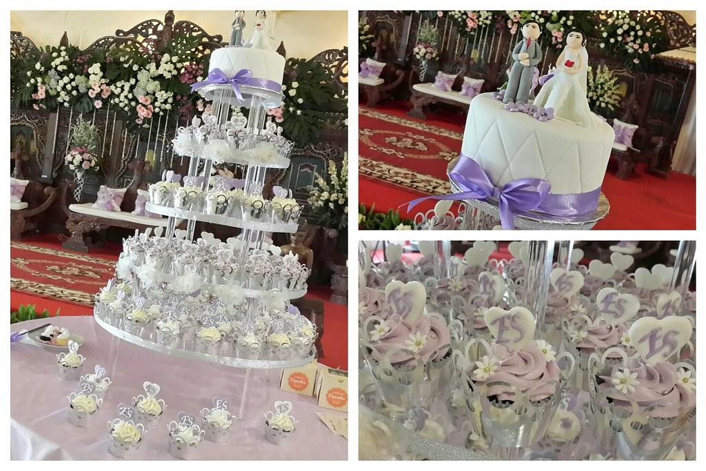Purple Wedding Cake Cupcakes Jakarta Outlet Pejaten V Flickr