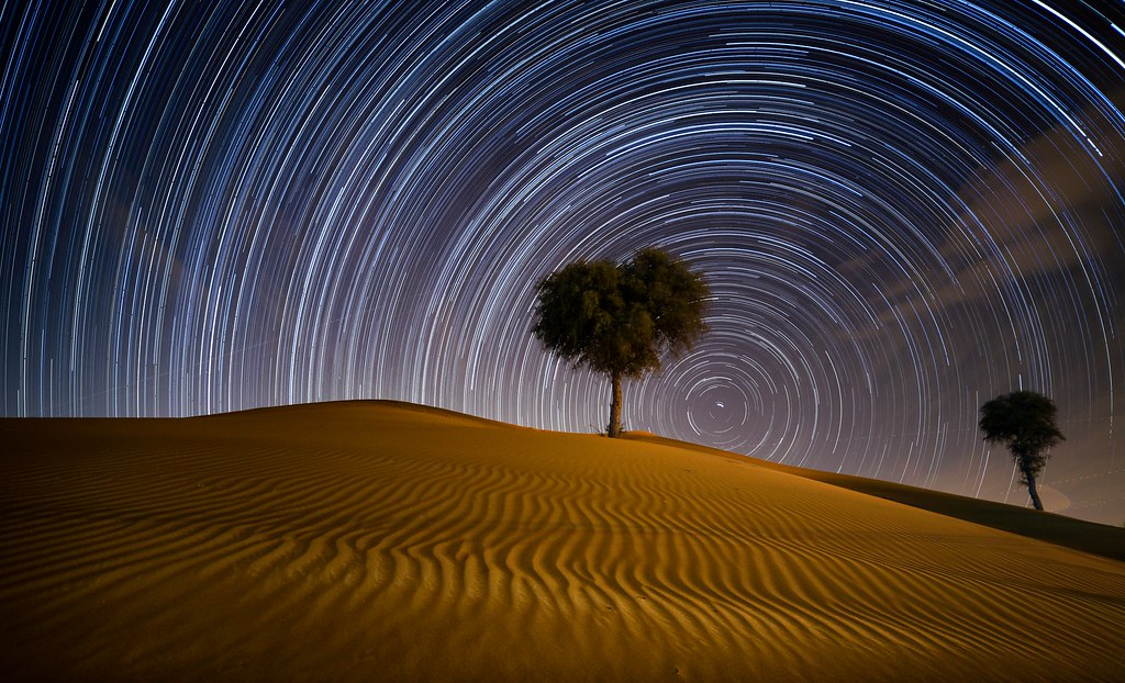 Star Trails at Desert