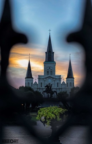 sunset sky church fence nikon louisiana neworleans religion steeple jacksonsquare nola stlouiscathedral d610