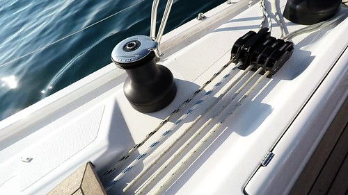 sailing yacht sailboat self tailing winch ropes stoppers | by yachtrent