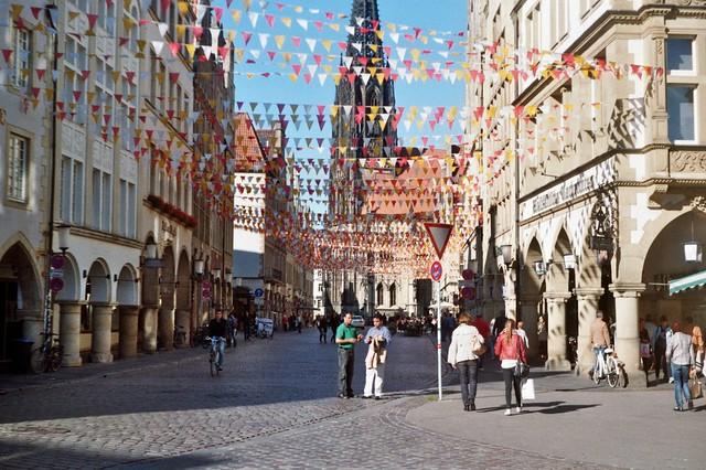 Prinzipalmarkt in Münster Farben - I shot film