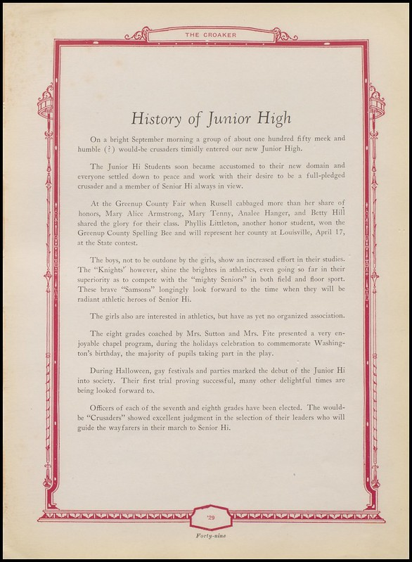 Greenup County Public Libraries: 1929 Russell High School Yearbook