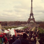 Sat, 12/12/2015 - 2:10pm - Eiffel Tower in our sites on the climate change March December 2015 huge celebration