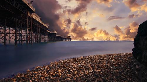 pier ndfilter longexposure brighton beach sea lowtide amusementpier england uk landscape