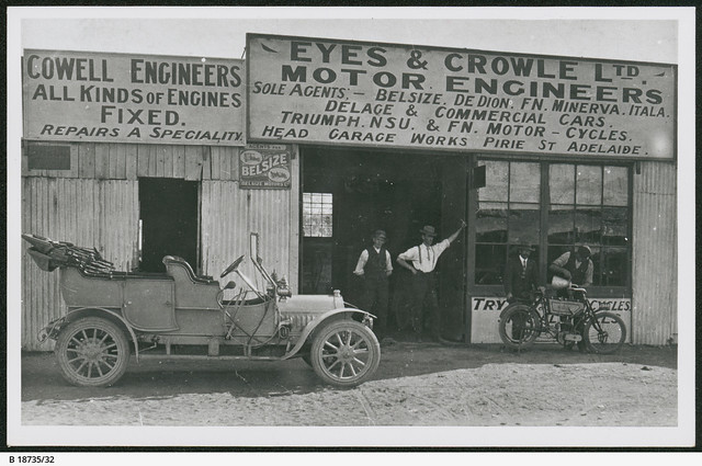 Eyes and Crowle Ltd Motor Engineers  Sole agents:- Belsize, De Dion, FN, Minerva, Itala, Delage, Triumph