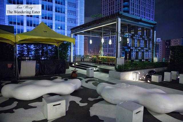 Lounge/gazebo area near the pool