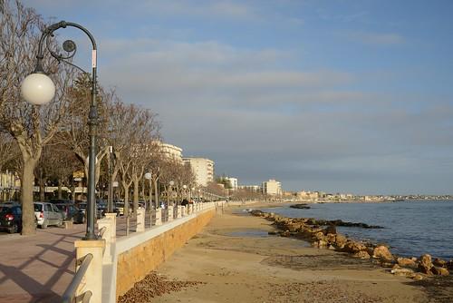 city italy coast town europe streetscene sicily mazaradelvallo