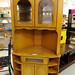 Tall corner oak TV cabinet