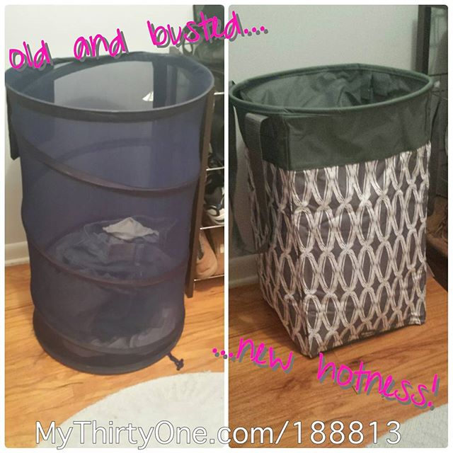 Replaced my old college laundry basket with the new #Thirt