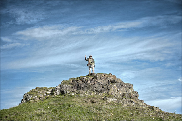 On Holy Isle, Northumberland, England