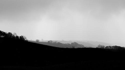 blackandwhite bw wales landscape view cymru powys