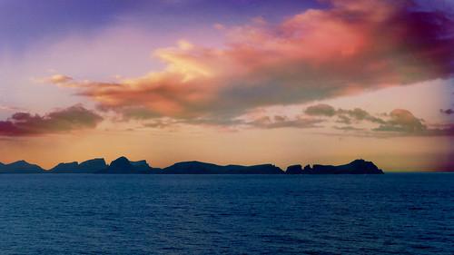 sunset sea seascape landscape coast ship leonardo peninsula madeira funchal