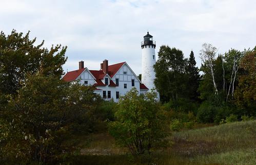 lighthouse michigan chippewa lightstation iroquoispoint